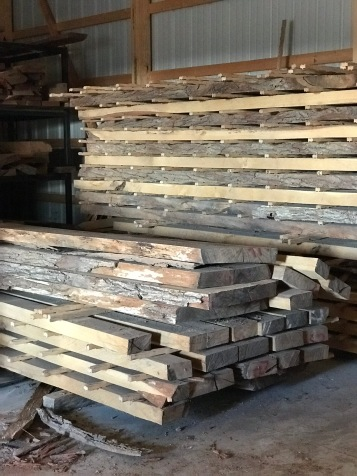 10/4 Burr Oak from Cuba, KS fresh out of the kiln. 8-foot-long live edge material and dimensional lumber in various widths, there is nothing more sturdy than quarter-sawn oak!""